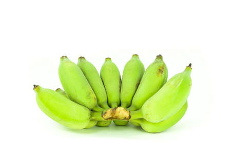 Unripe green banana