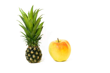 big apple: Small pineapple with big apple