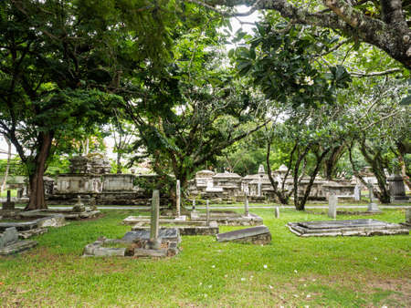 georgetown: Old Protestant Cemetery in Georgetown, Penang, Malaysia Stock Photo