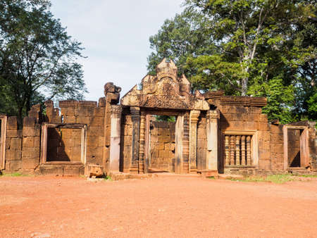 The front gate of  Banteay  Srei  Hindu Temple in Siem Reap, Cambodia