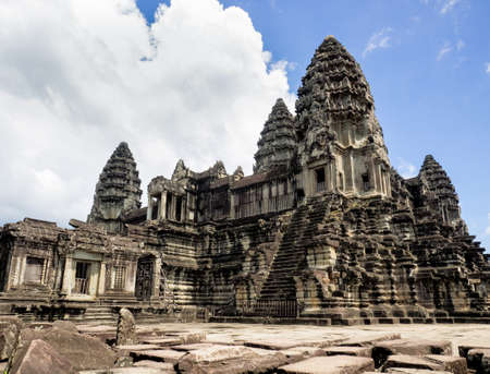 Angkor Wat, the 12th century Hindu temple complex in Cambodia Stock Photo