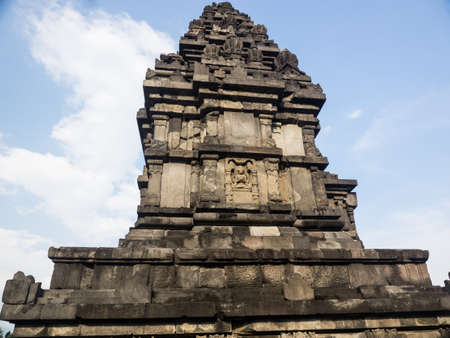 The pagoda of Prambanan temple, the 9th-century Hindu temple compound in Central Java, Indonesia