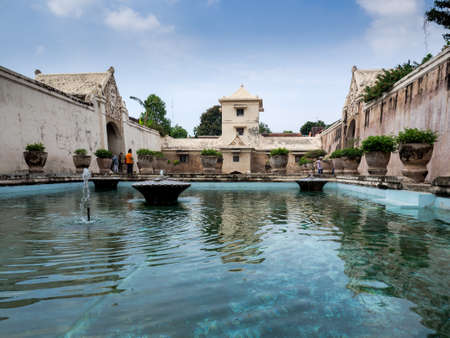 Yogyakarta, Indonesia - September 15, 2016: The Taman Sari Water Palace  which is a site of a former royal garden of Sultan of Yogyakarta, Java Island, Indonesia,.