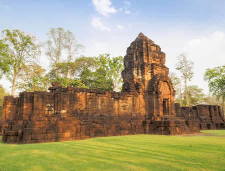 The ancient Khmer-style temple in Mueang Singh historical park in Kanchanaburi Province, Thailand, which is believed to be built in the 13th century.