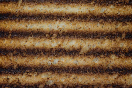 Close up of burnt toast background