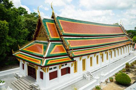 The building in Phrabuddhabat temple, Saraburi Province, Thailand 写真素材