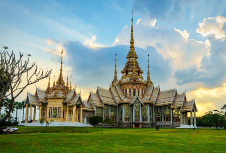 Non Kum temple or also known as Wat Sorapong, a famous Buddhist temple in Nakhon Ratchasima Province, Thailand