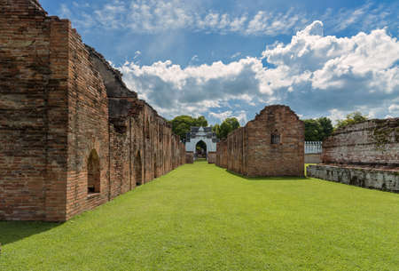 The ruins of storage buildings of King Narais palace at Lopburi Province, Thailand. King Narai ruled Ayutthaya Kingdom from 1656 to 1688.