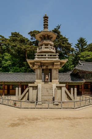 仏国寺、慶州、韓国で石の塔