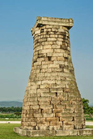 Cheomseongdae, the ancient astronomical observatory, Gyeongju, South Korea.
