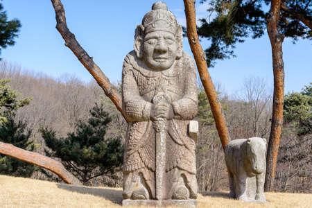 江陵王家の墓、蘆原区ソウル、南朝鮮で朝鮮時代 (1392-1910) の王家の墓で市民の公式を石します。