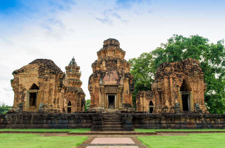 Prasat Sikhoraphum, an ancient Khmer-style Hindu temple in Surin Province, Thailand, which is built in the 12th century.