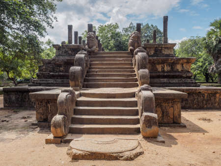 The council chamber of King Parakramabahu the Great (1153-1186 A.D.) in the ancient city of Polonnaruwa, Sri Lanka