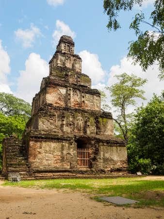 Satmahal Prasadaya, a seven storied edifice located in the ancient city of  Polonnaruwa, Sri Lanka