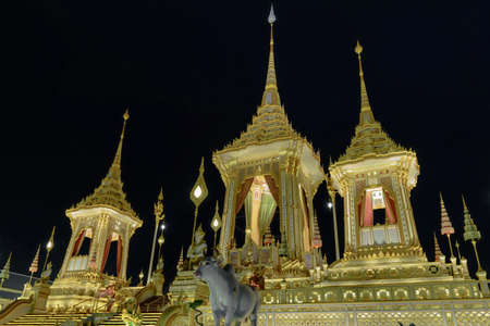 Bangkok, Thailand - December 08, 2017 :The Royal Crematorium for HM King Bhumibol Adulyadej of Thailand which is open to public after cremation.