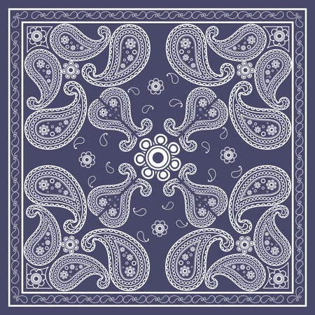 bandana: BLUE BANDANA Illustration
