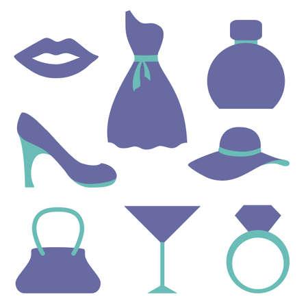 fashion set: Fashion icons set.