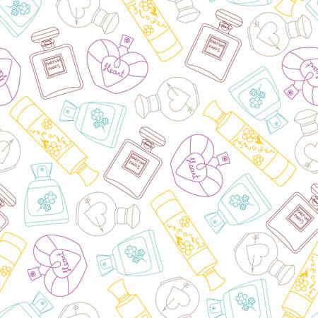 Perfume seamless pattern background. Vector illustration 일러스트