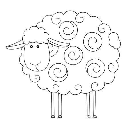Cartoon sheep. Vector illustration Illustration