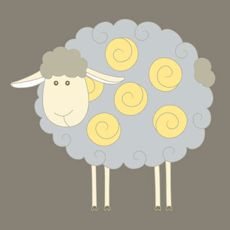 mohair: Cartoon sheep. Vector illustration Illustration