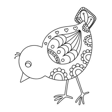 Hand drawn decorative chick