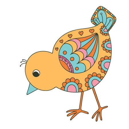 chuck: Hand drawn decorative chick