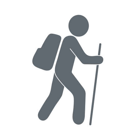 Hiking icon illustration isolated vector sign symbol Vectores