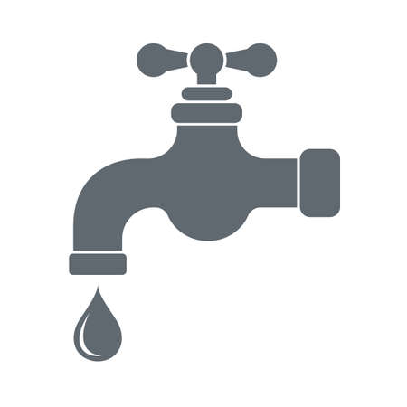 spigot: Water tap  icon. Vector illustration
