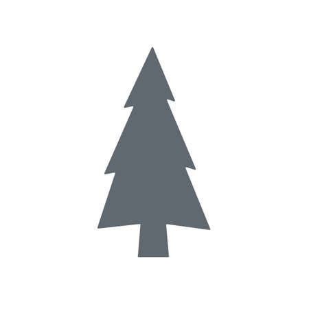 cicuta: Evergreen conifer  pine tree flat stylized icon for apps and websites