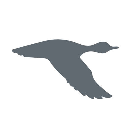goose flesh: duck icon, vector duck silhouette, isolated duck Illustration
