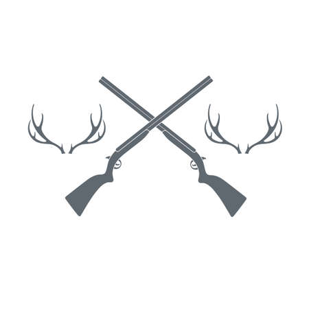 wildlife shooting: Hunting club logo icon. Vector illustration
