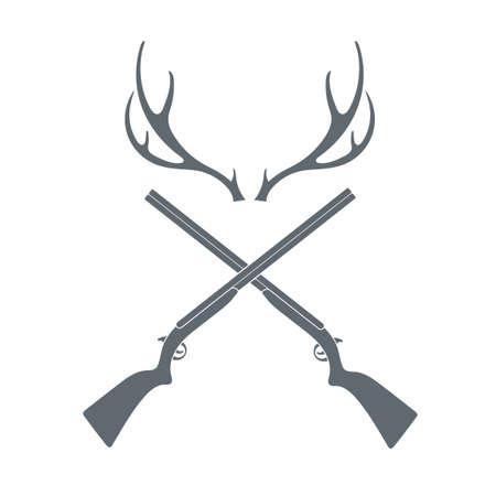Polowanie klub logo ikony. ilustracji wektorowych