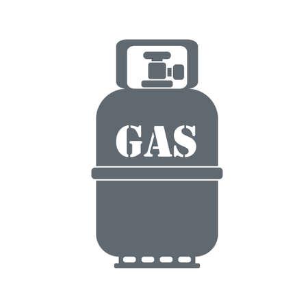 Acampar icono de contenedor de gas en el fondo blanco. ilustración vectorial