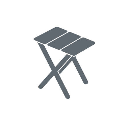 stool: Camping stool icon. Vector illustration