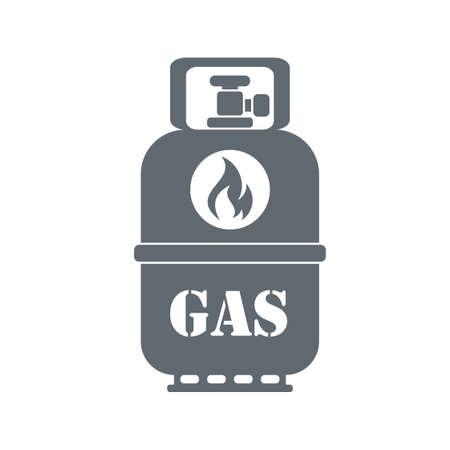 Campinggas container pictogram op een witte achtergrond. vector illustratie Stock Illustratie
