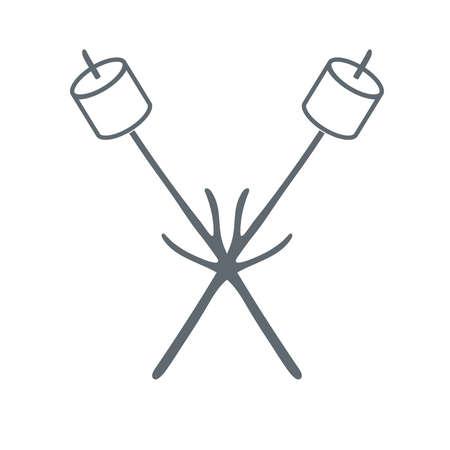 marshmellow: Marshmellow icon on white background. Vector illustration.