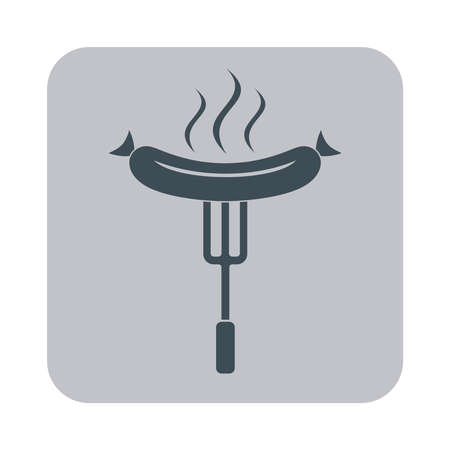 mutton: The barbecue icon. Flat Vector illustration