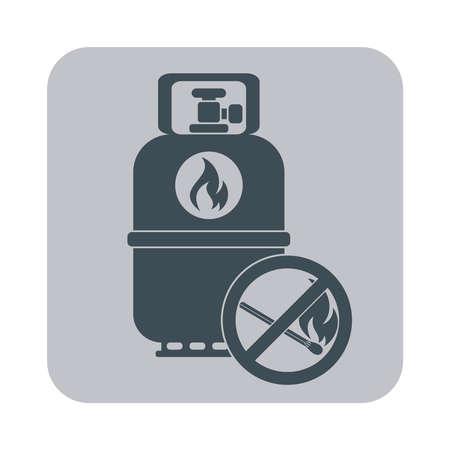 propane: Camping gas bottle icon. Flat icon isolated. Vector illustration Illustration