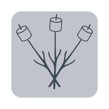 roaster: Zephyr on skewer icon. Vector illustration Illustration