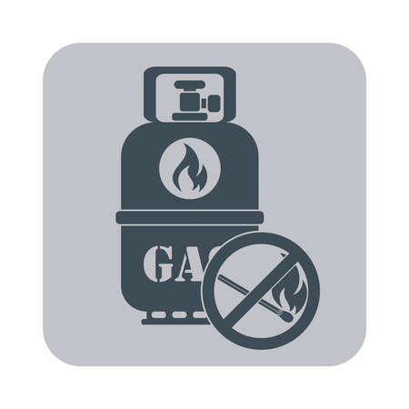 gas bottle: Camping gas bottle icon. Flat icon isolated. Vector illustration Illustration