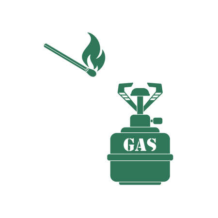 propane: Camping stove icon vector. Vector illustration.