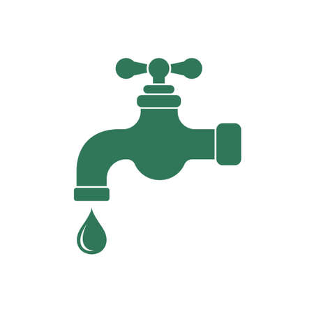 handle: Water tap icon. Vector illustration