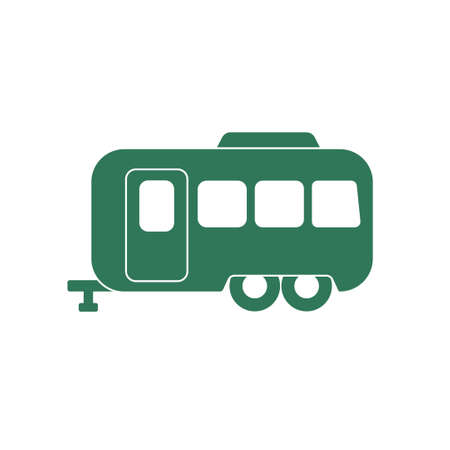 coupling: Camping trailer icon. Vector illustration