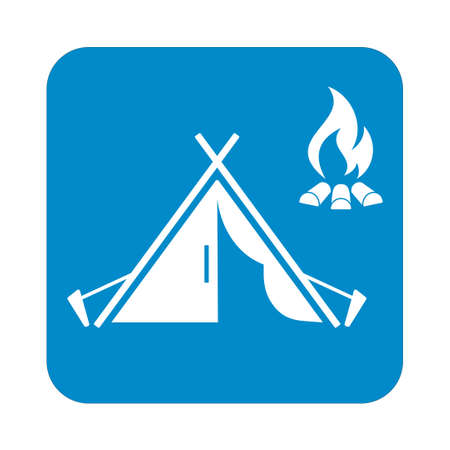 tent vector: Stylized icon of tourist tent. Vector illustration
