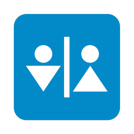 man and women wc sign: Man and Woman Toilet vector icon