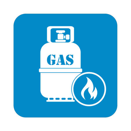 travel burner: Camping gas bottle icon vector. Vector illustration. Illustration