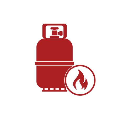 travel burner: Camping gas bottle icon. Flat icon isolated. Vector illustration Illustration