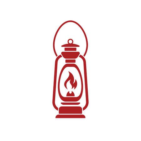kerosene: Antique Old Kerosene Lamp isolated. Retro design. Vector illustration.