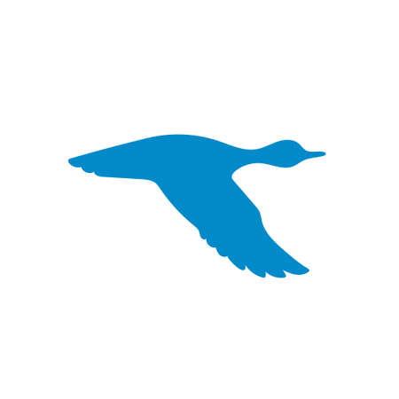 duck hunting: Vector silhouette flying duck. Vector illustration