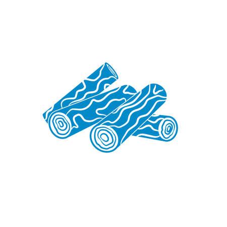Bois de chauffage icône. Vector illustration